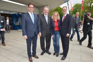 v.l.: Florian Pronold, Christian Ude, Natascha Kohnen und Markus Rinderspacher