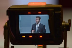 Landesvorsitzender Florian Pronold während seiner Rede (Foto: S. Prager)