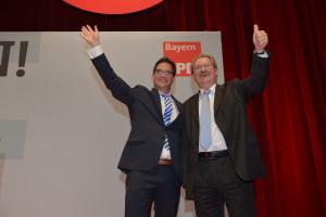 Florian Pronold und SPD-Spitzenkandidat Christian Ude (Foto: S. Prager)