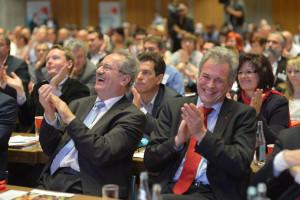Christian Ude und Matthias Jena, Vorsitzender des DGB Bayern