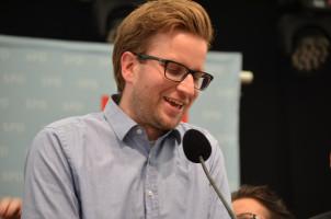 Abschluss der Kundgebung mit Ortsvereinsvorsitzendem Thomas Schug