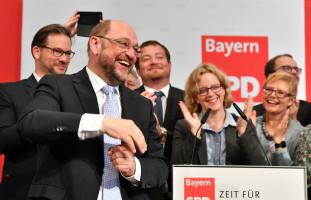 Martin Schulz genießt den Applaus