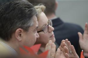 Sigmar Gabriel und Generalsekretärin Natascha Kohnen