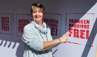 Bezirksrätin Amely Weiß aus Mittelfranken kennt auch nur ein Ziel: Franken barrierefrei!