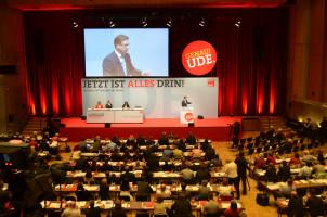 Landesvorsitzender Florian Pronold während seiner Rede
