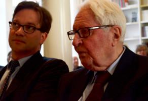 Florian Pronold und Hans-Jochen Vogel