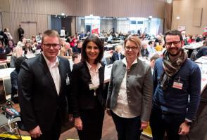 Kommunalkandidat*innen: Holger Grießhammer, Filiz Cetin, Christiane Kern und Andreas Zippel