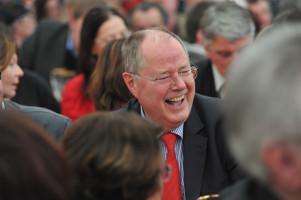Fühlt sich in Bayern wohl und hat sichtlich Spass: SPD-Kanzlerkandidat Peer Steinbrück