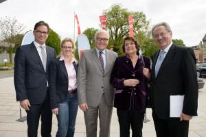 Florian Pronold, Natascha Kohnen, Frank-Walter Steinmeier, Edith von Welser-Ude und Christian Ude