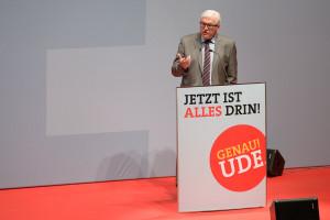 Frank-Walter Steinmeier während seiner Rede