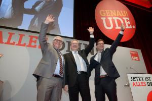 Frank-Walter Steinmeier, Christian Ude und Florian Pronold