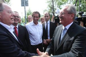 SPD Kanzlerkandidat Peer Steinbrück und SPD Spitzenkandidat Christian Ude (Foto: Frank Ossenbrink)