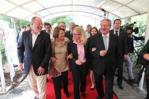 SPD Kanzlerkandidat Peer Steinbrück, Edith von Welser-Ude, Generalsekretärin Natascha Kohnen und SPD Spitzenkandidat Christian Ude (Foto: Frank Ossenbrink)
