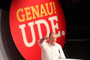 SPD Kanzlerkandidat Peer Steinbrück während seiner Rede (Foto: Frank Ossenbrink)