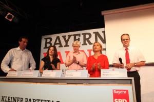 Talkrunde mit den Mitgliedern des Beraterteams von Christian Ude (Foto: Frank Ossenbrink)