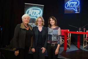 v.l.: Renate Schmidt, Natascha Kohnen und Landtagskandidatin Kerstin Gardill