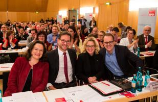Andrea Nahles, Florian Pronold, Natascha Kohnen und Markus Rinderspacher