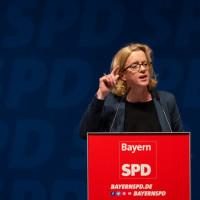 Natascha Kohnen auf dem Parteitag am 16.6.2018 in Weiden