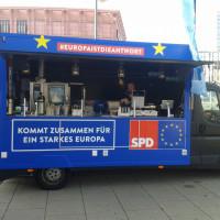 Der Europa-Info-Truck der SPD