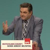 Aschaffenburgs Oberbürgermeister Klaus Herzog auf dem SPD-Bundesparteitag
