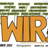 """Plakatmotiv für das Musik-Open-Air unter dem Motto """"WIR"""""""