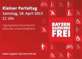 Banner Kleiner Parteitag am 18.04.2015 in Unterschleißheim