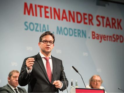 Florian Pronold während seiner Rede in Hirschaid