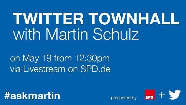 Twitter-Townhall-Meeting mit Martin Schulz