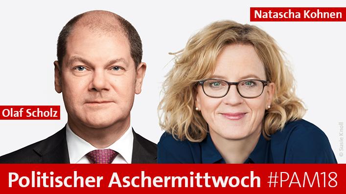 Kohnen und Scholz beim Politischen Aschermittwoch 2018
