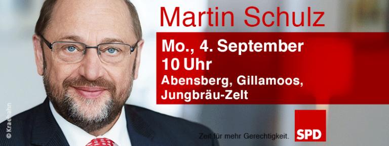 Martin Schulz auf dem Gillamoos 2017