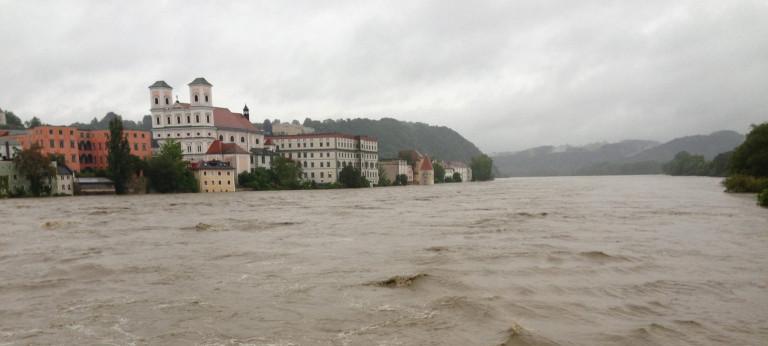 Hochwasserlage in Passau (Foto: Christian Flisek)
