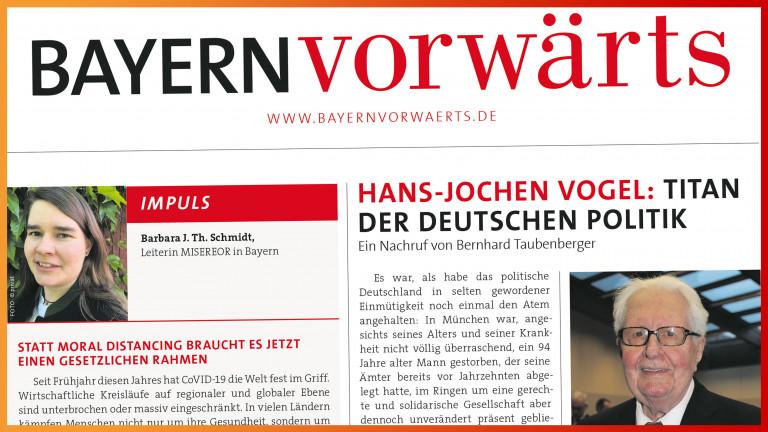BayernVorwärts September 2020 Vorschaubild