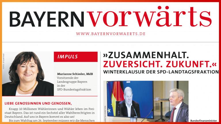 Vorschau BayernVorwärts Februar 2021