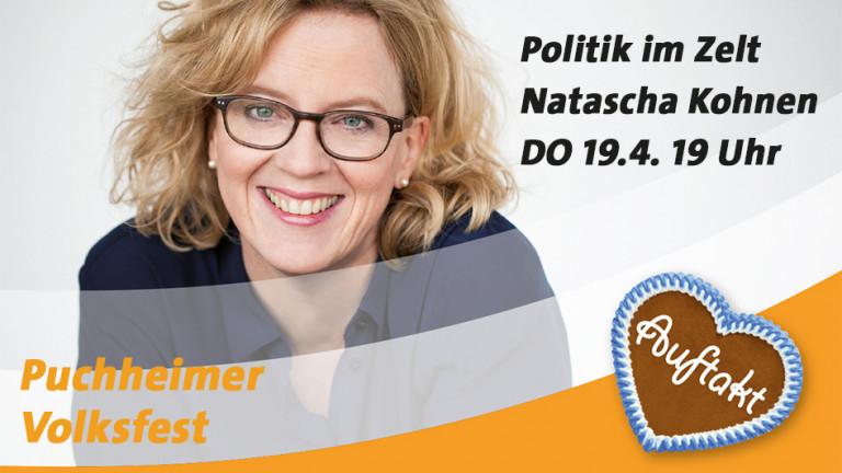 """POLITIK IM ZELT"" 19. APRIL mit Natascha Kohnen"