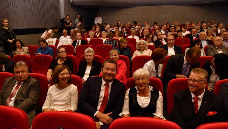 Uli Grötsch und Renate Schmidt im Regina Filmtheater in Reinhausen, Regensburg