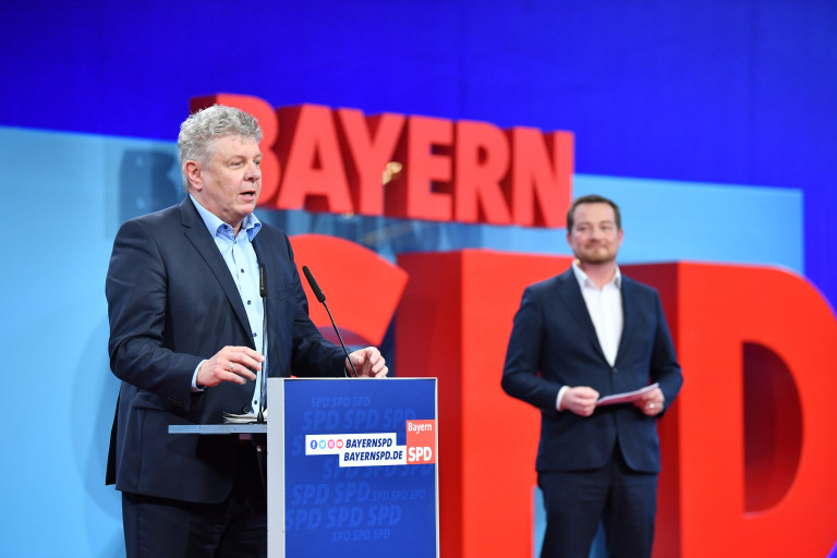 Münchens OB Dieter Reiter mit einer Wortmeldung