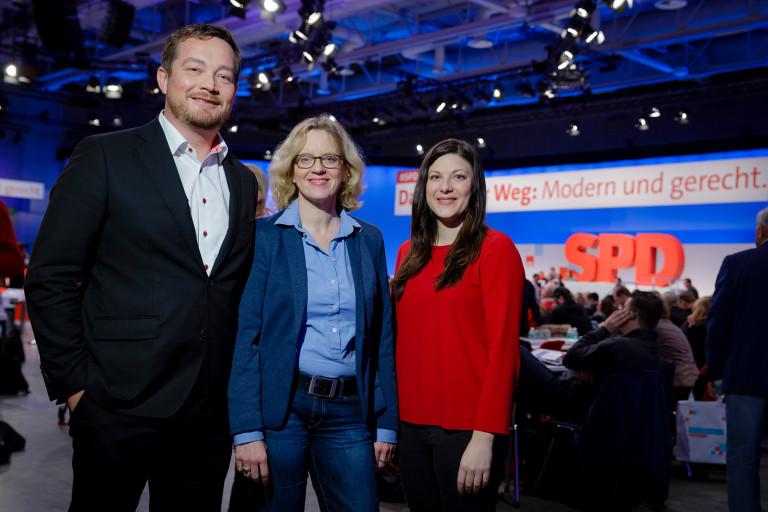 Natascha Kohnen, Johanna Uekermann und Uli Grötsch