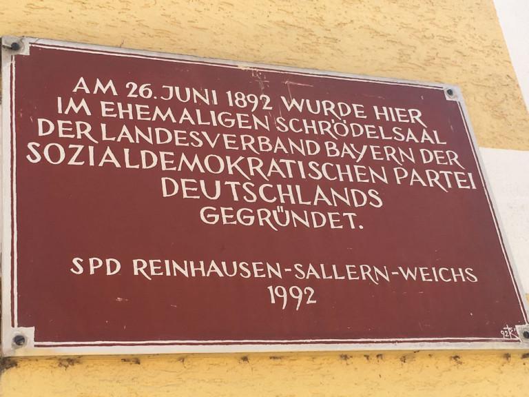 Gedenktafel in Reinhausen