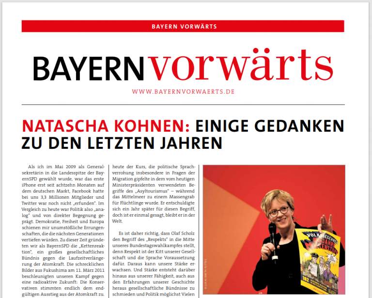 BayernVorwärts April 2021